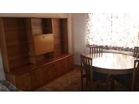 Free: dining room suite - Merrydale. Large dresser, extending table and 4 chairs. Good condition.