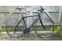Nearly new custom built Full carbon frame hybrid bike 2x11 105 chainset (scott giant kona )