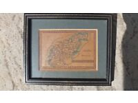 Northampton Antique Map Published By James Wallis/C Hinton Circa 1800