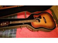 Guild GAD 50 Acoustic Guitar with Built in Electrics (Spruce top, mahogany back and sides)