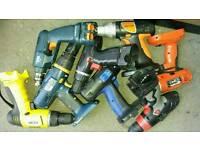 various cordless drills