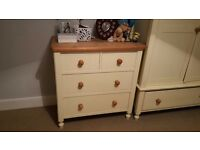 Cream Solid Well Built Chest of Drawers