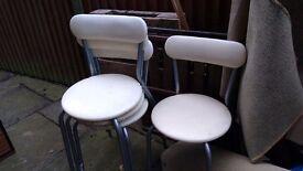 FREE Plastic cream coated chairs