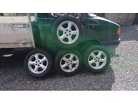 4 Yokohama Tyres on Subaru Mag Wheels - 215/60/R16