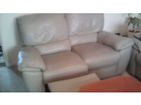 SET SOFA 3+2+1 - natural leather - GREAT CONDITION