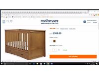 RRP £500 BARGAIN New Mothercare Harrogate Cotbed & Mothercare cotbed Mattress