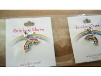 equilibrium charms for girls - owl ladybird fairy rainbow butterfly