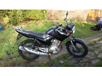 Yamaha YBR 125 Motorcycle, Black, Years MOT, Low milage.