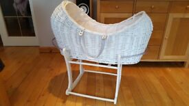 Mothercare moses basket + crib rocking stand