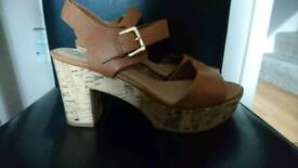 New Look heeled sandals size 8 wide fit hardly worn
