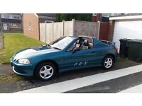 1995 HONDA CIVIC CRX --- 2820 MILES ---SHOWROOM CONDITION . PRIVATE PLATE INCLUDED