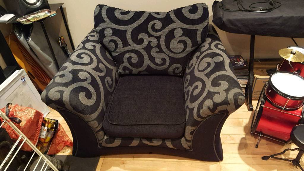 Armchair black and gray