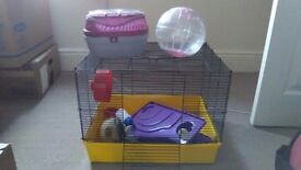 Large Hamster Cage and accessories