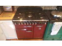 Rangemaster Cooker Elan 90 Cranberry (or Pearl) Excellent Condition