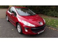 PEUGEOT 308 1.4 VTI VERVE 09 REG 5 DOOR IN RED WITH GREY TRIM, SERVICE HISTORY AND MOT NOV 2018