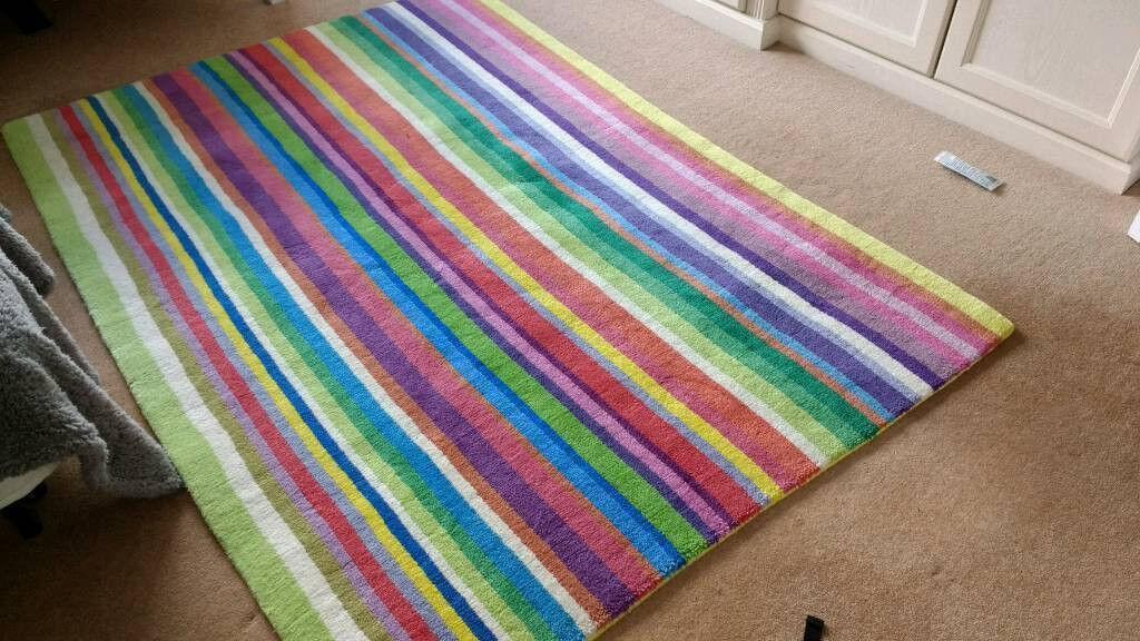 Ikea Strib Wool Rug 200cm By 140cm In
