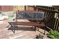 Antique bench and chairs