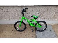 Sonic Robotnic Boys Junior Bike - Green, 16 Inch Brand New