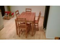 Ikea table and 4 chair set