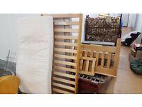 Warwick Junior Bed incl. mattress. Pine wood, very good cond.