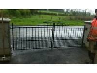 Metal drive way gates (11 foot)