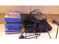 Black ps2 with pad and games