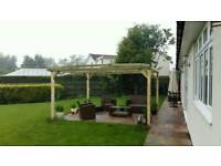 Garden wooden pergola 4m x 4m