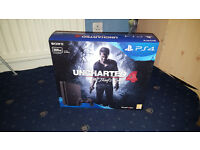 Brand New And Sealed Slim Boxed Sony Playstation 4 PS4 (Sony Official Controller, Earphones, HDMI)