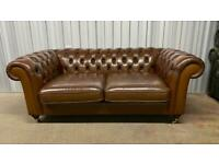 Stunning large 2 seater leather chesterfield sofa £750
