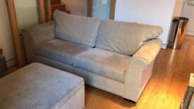 3 seater sofa and foot stool/coffee table