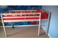 Girl's mid sleeper single bed