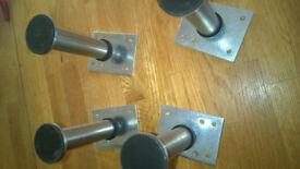 Four Ikea 18612 legs; adjustable stands for uneven floors