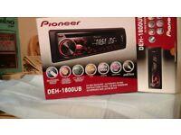 Pioneer cd radio player for car