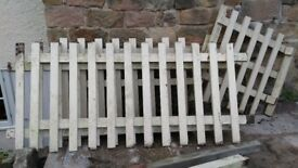 picket fencing, painted cream