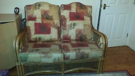 Conservatory Sofa Suite - 2, 1, 1 and table - £80 ono - collection only