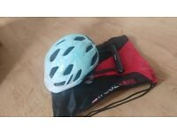 HELMET AND BRAND NEW BIKE LOCK - WITH FREE BAG