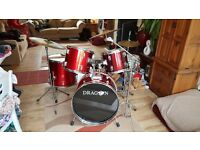 Drum Kit 5 piece with cymbals, hi hat, kick pedal, snare etc