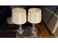 SET OF 2 TABLE LAMPS 37cm TALL
