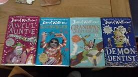 David Walliams 4 hardback books VGC