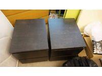 Ikea Malm bedside tables x 2