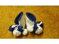 7609a8f007bf Choice of Home hand made baby boy girl wool socks booties pram shoes 3-6