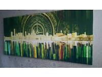 Massive Liverpool skyline Art Canvas Original bright and artistic abstract representation