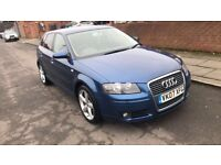 2007 Blue Audi A3 Sport 1.9 TDi Low Mileage Very Good Condition