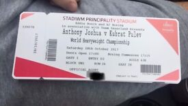 Joshua v Takam ticket for sale