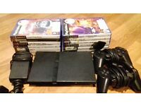 PS2, controllers, games and memory stick