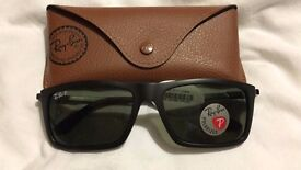 RAY BAN POLARISED SUNGLASSES MENS NEW