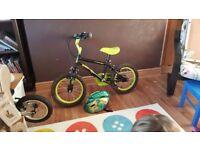 Children's bike, age 4 - 6, dinosaur design with matching helmet