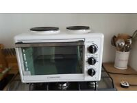 Cookworks Mini Oven with 2 Hot Plates