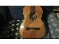 semi electric acoustic guitar with amp