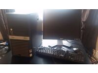 Computer, Monitor, Keyboard, Mouse Core 2 Duo 2.3 GHz, 3GB Ram Fujitsu Siemens Esprimo P5925
